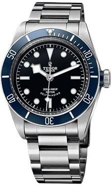 réplica Tudor Heritage negro Bay Acero Advisor titanio 79220B unisex reloj