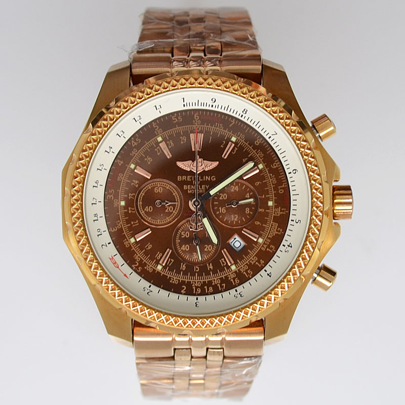 Réplicas De Breitling Bentley MotorsT Rose Gold Reloj